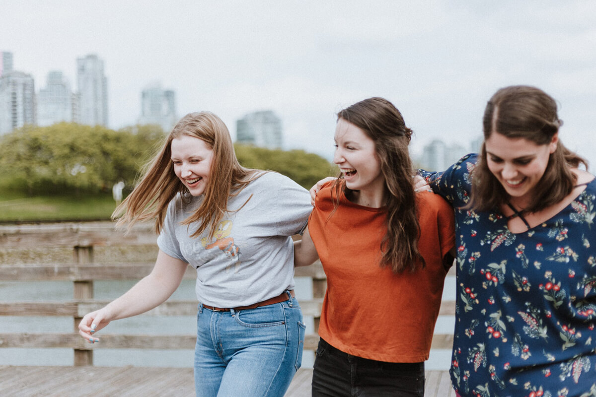 Group of girls laughing