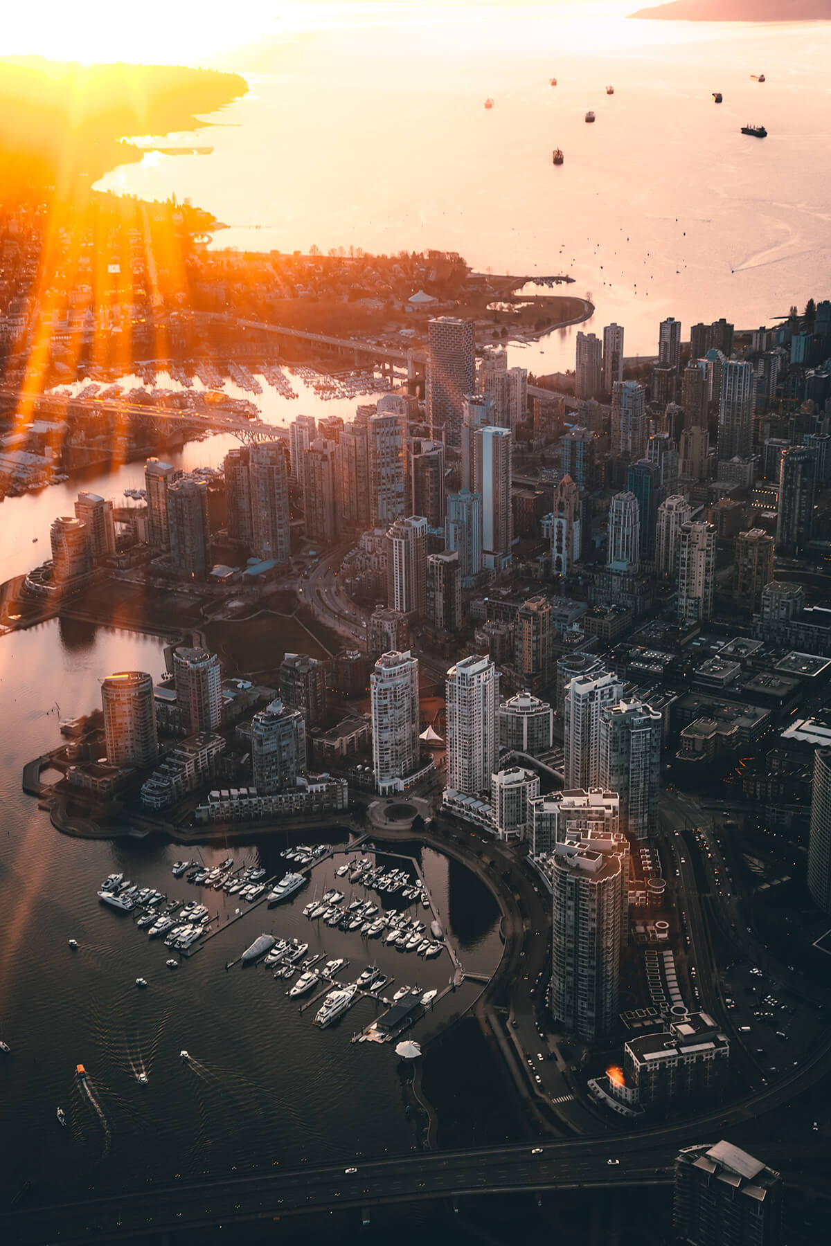 Aerial photo of downtown Vancouver