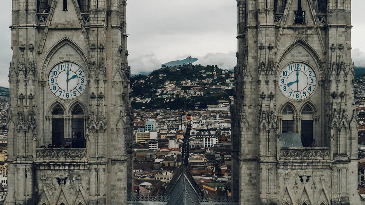 Photo of Basilica del Voto Nacional in Quito Ecuador